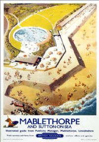 Mablethorpe & Sutton-on-Sea, Lincolnshire. BR (ER) Vintage Travel Poster by Donald F Blake